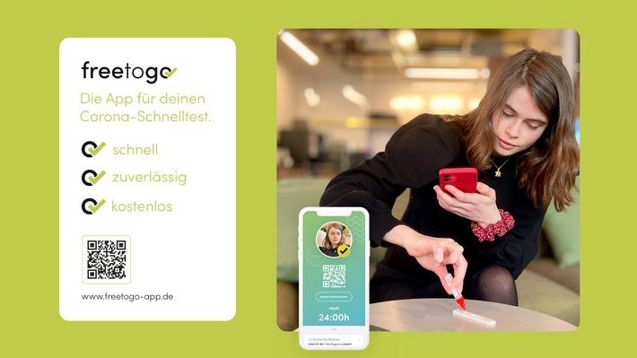 Freetogo - die Corona-Test-App, bequem von zu Hause testen! / Weiterer Text über ots und www.presseportal.de/nr/156478 / Die Verwendung dieses Bildes ist für redaktionelle Zwecke unter Beachtung ggf. genannter Nutzungsbedingungen honorarfrei. Veröffentlichung bitte mit Bildrechte-Hinweis.