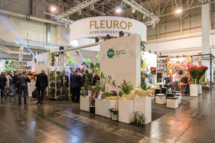 Der Fleurop-Messestand auf der IPM 2017 war als Standkonzept mit einem Fokus auf die Kooperationspartner gestaltet. ©Peter Johann Kierzkowski/Fleurop AG