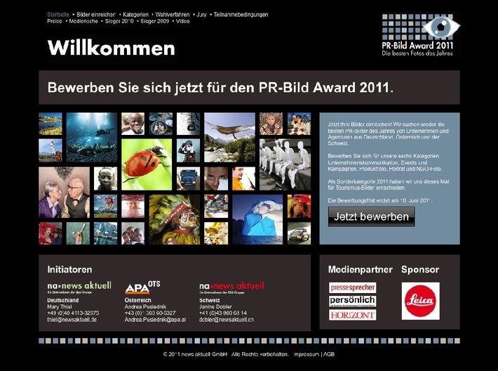 PR-Bild Award 2011: Bewerbungsfrist endet am 10. Juni