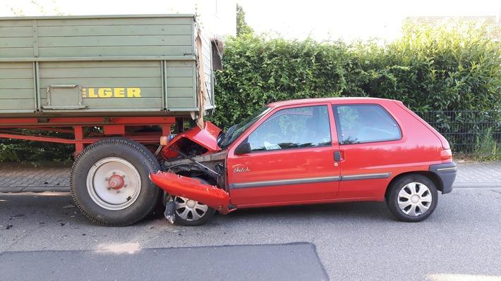 POL-PDWO: Verkehrsunfall mit verletzter Person
