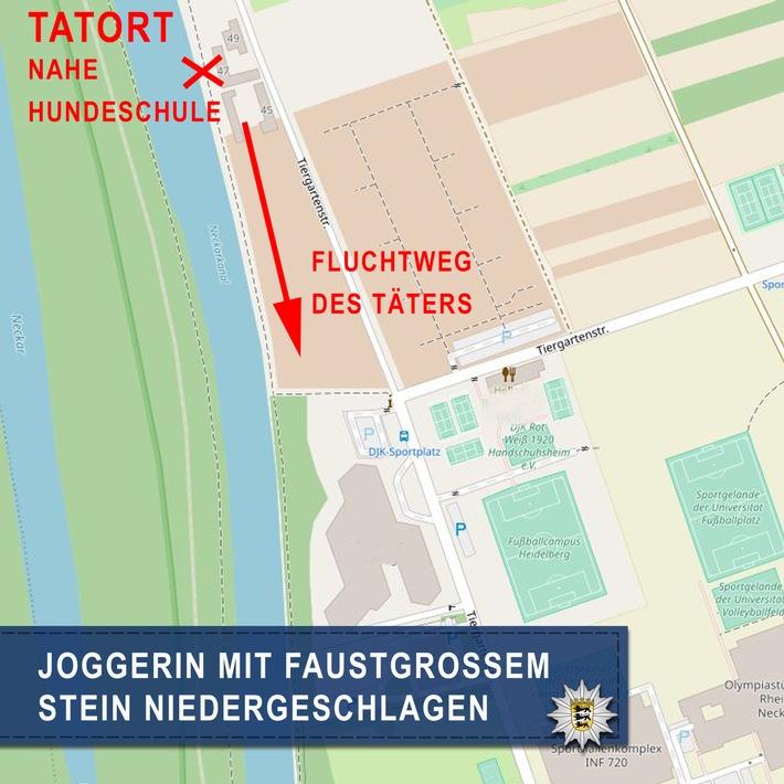 POL-MA: Heidelberg-Neuenheimer Feld: Frau von Mann angegriffen, Ermittlungen wegen versuchtem Totschlag, Zeugen gesucht! -jetzt NEU mit Bildanhang vom Tatort-