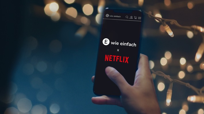 """Das klingt nach Weihnachten: E WIE EINFACH schenkt NETFLIX zum Fest / E WIE EINFACH / Weiterer Text über ots und www.presseportal.de/nr/69289 / Die Verwendung dieses Bildes ist für redaktionelle Zwecke honorarfrei. Veröffentlichung bitte unter Quellenangabe: """"obs/E WIE EINFACH GmbH"""""""