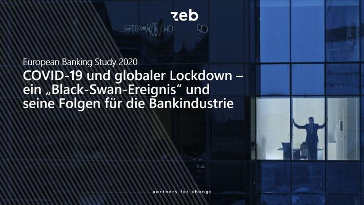 """European Banking Study 2020: / COVID-19-Pandemie hat Europas Banken fest im Griff. Weiterer Text über ots und www.presseportal.de/nr/119614 / Die Verwendung dieses Bildes ist für redaktionelle Zwecke honorarfrei. Veröffentlichung bitte unter Quellenangabe: """"obs/zeb"""""""