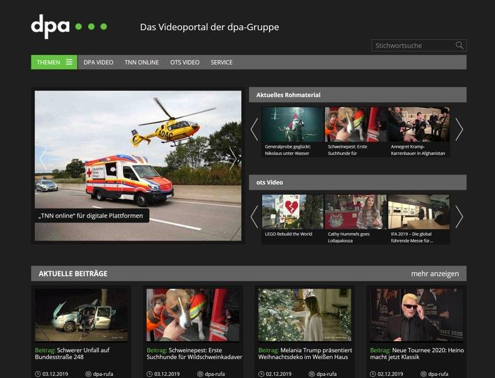 dpa vermarktet Videos von TeleNewsNetwork exklusiv für Web- und Digital-Nutzung