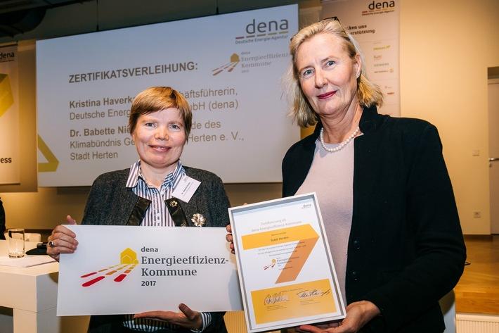 Herten ist erste dena-Energieeffizienz-Kommune in Nordrhein-Westfalen