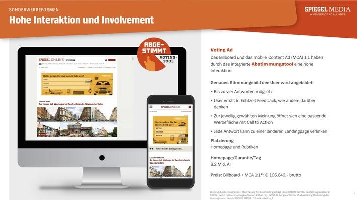 BILD zu OTS - Sonderwerbeform: Voting Ad