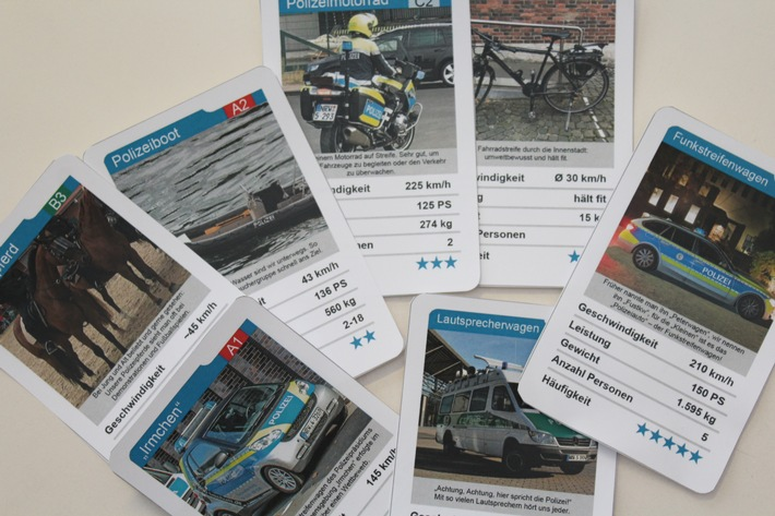 Das Quartettspiel des Bochumer Polizeipräsidiums