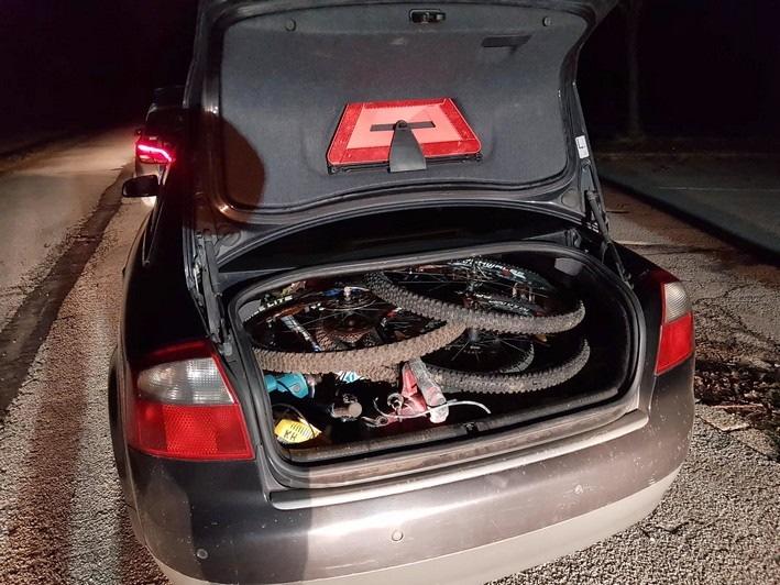 Bundespolizei stellt Fahrräder und Baumaschinen sicher. Foto Bundespolizei