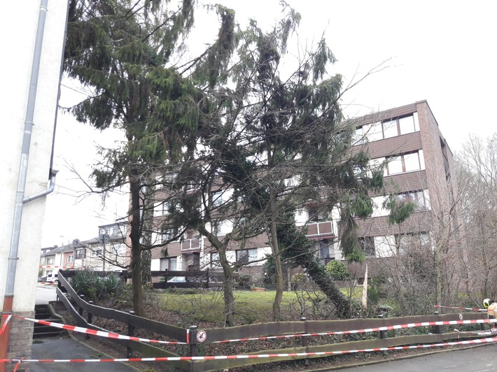 Sturmtief Friederike trifft Stolberg