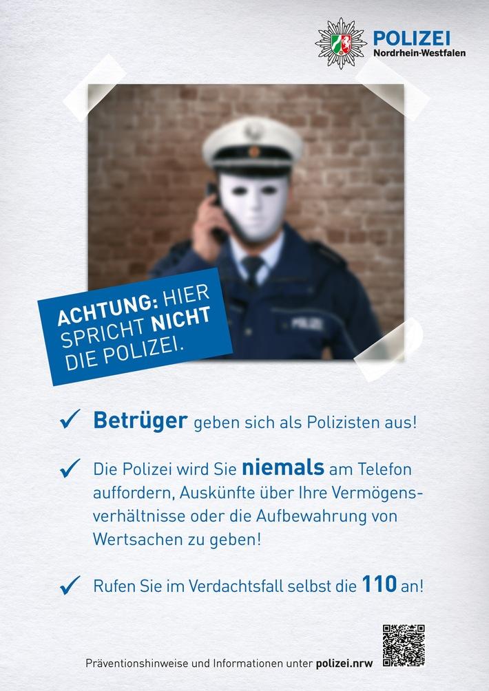 Vorsicht, falsche Polizisten am Telefon.