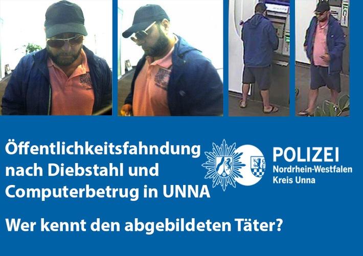 Tatverdächtiger am Geldautomaten (Diebstahl und Computerbetrug) am 03.07.2018