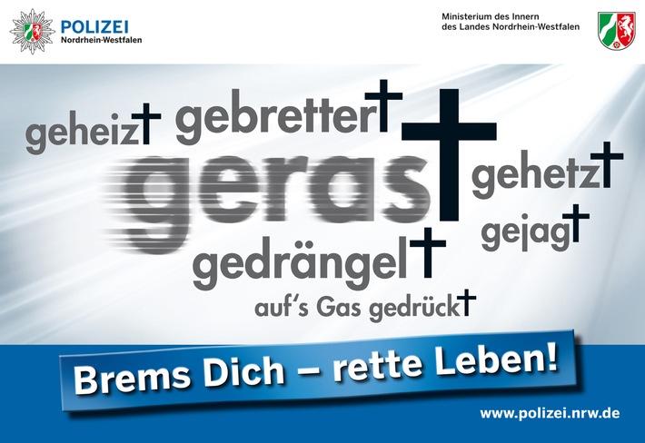 """""""Brems Dich - rette Leben!"""" - Logo"""