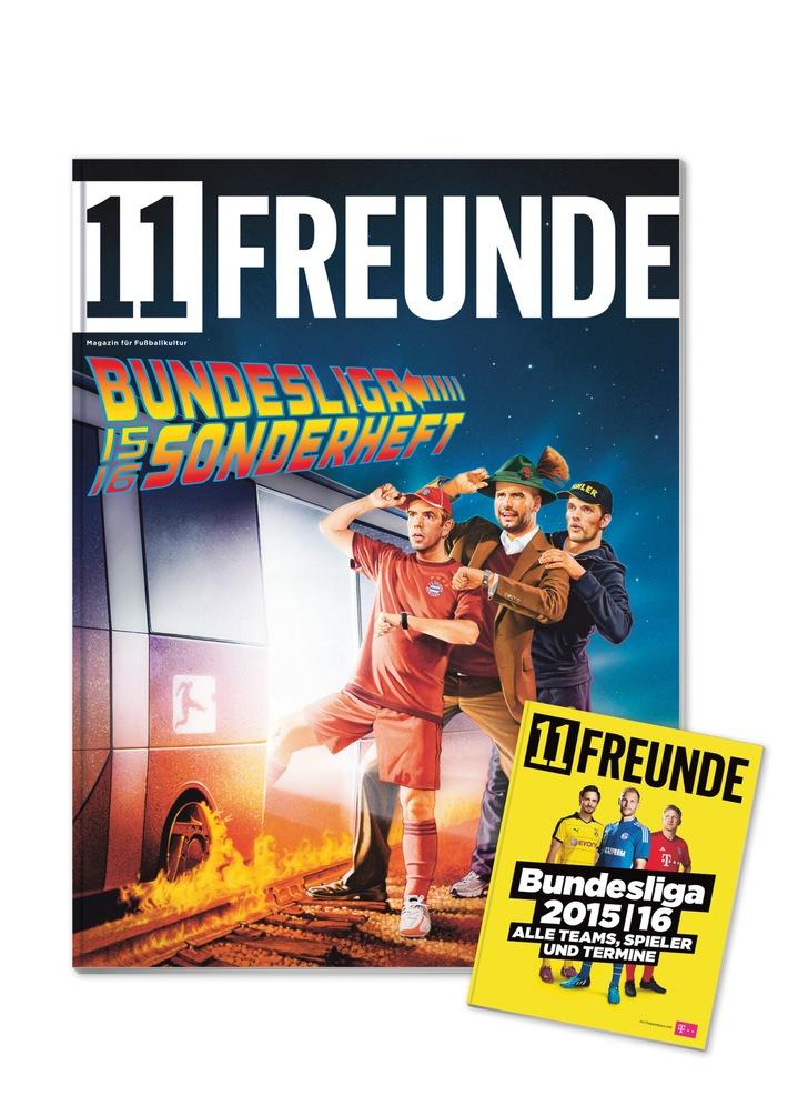 11FREUNDE startet in die neue Bundesliga-Saison 2015/16 / Bundesliga-Schwerpunktheft mit Pocketplaner und Spielplanposter / Neue Merchandise-Produkte im Shop