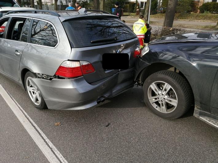 Verkehrsunfall in der Alzeyer Straße in Worms