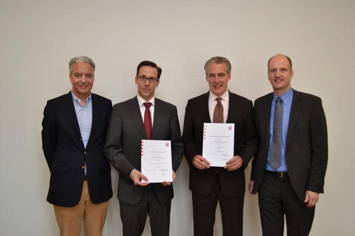 Neue Professoren an der Hochschule Fresenius im Fachbereich Wirtschaft & Medien