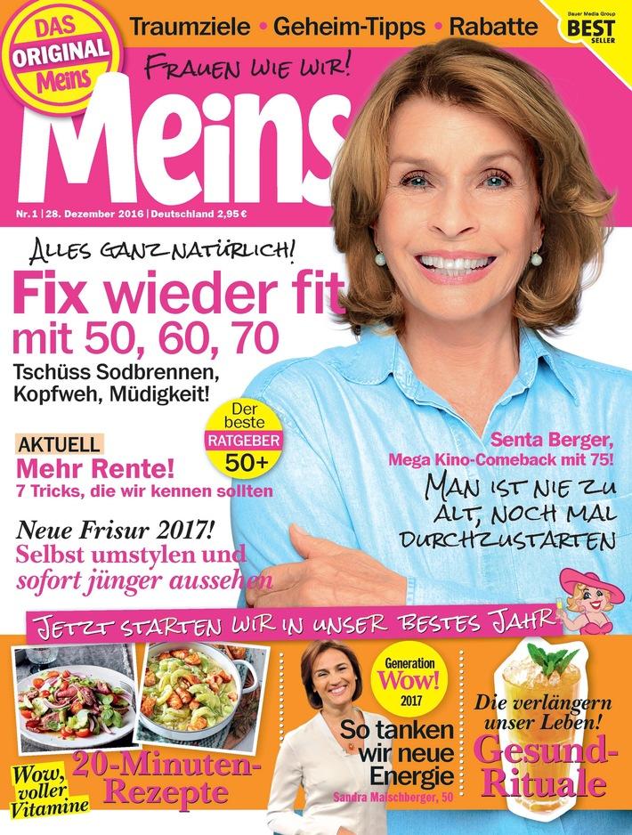 """Meins-Cover der Ausgabe 1/2017 / Weiterer Text über ots und www.presseportal.de/nr/106542 / Die Verwendung dieses Bildes ist für redaktionelle Zwecke honorarfrei. Veröffentlichung bitte unter Quellenangabe: """"obs/Bauer Media Group, Meins/Meins"""""""
