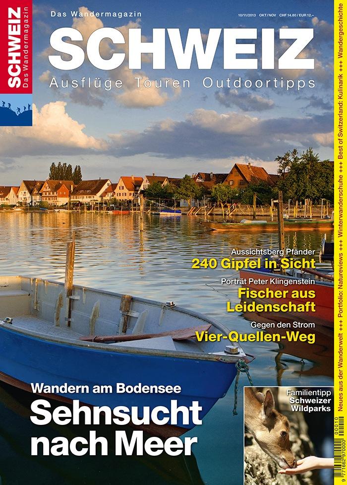 Wandermagazin Schweiz: Sehnsucht nach Meer / Wandern am Bodensee (BILD)