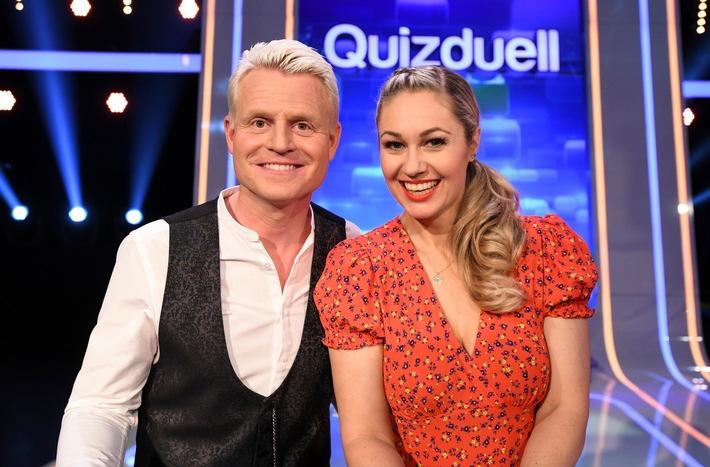 """Das Erste: """"Quizduell-Olymp"""" mit Guido Cantz und Ruth Moschner am Freitag, 20. Juli 2018, um 18:50 Uhr im Ersten"""