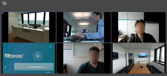 """PAN AMP veröffentlicht PANConference: Alles, was Sie für sichere Videokonferenzen brauchen / PANConference, Audio-, Video-Konferenz, Audio-, Video-, Daten-Streaming, Ende-zu-Ende-Verschlüsselung. Weiterer Text über ots und www.presseportal.de/nr/31605 / Die Verwendung dieses Bildes ist für redaktionelle Zwecke honorarfrei. Veröffentlichung bitte unter Quellenangabe: """"obs/PAN AMP AG"""""""