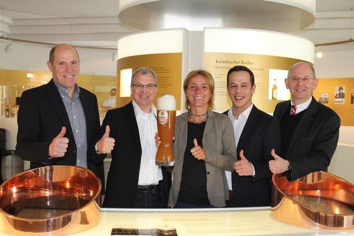 Krombacher Alkoholfrei ist offizieller Bier- und Sponsorpartner des Frankfurt Marathons