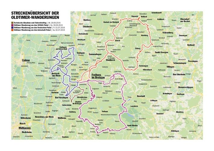 """Route ADAC Deutschland Klassik, Freiburg, 29.06 - 03.07.2016 Weiterer Text über ots und www.presseportal.de/nr/7849 / Die Verwendung dieses Bildes ist für redaktionelle Zwecke honorarfrei. Veröffentlichung bitte unter Quellenangabe: """"obs/ADAC"""""""
