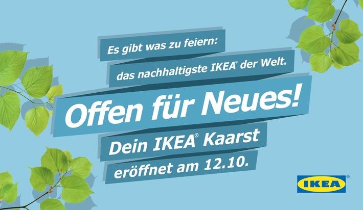 """Kurz vor der Eröffnung: Vom 26. September bis 7. Oktober tourt IKEA mit dem Markt """"Offen für Neues"""" durch Kaarst und die Region"""