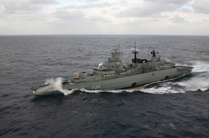 Die Fregatte BAYERN im Einsatzgebiet vor der libanesischen Küste