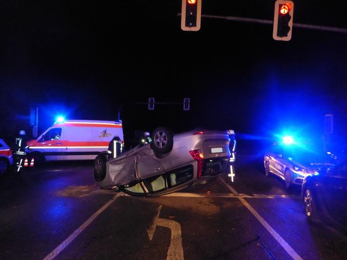POL-FR: Staufen - Schwerer Verkehrsunfall ging glimpflich aus
