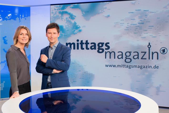 Ab 2. Januar aus Berlin: ARD-Mittagsmagazin startet mit Jessy Wellmer und Sascha Hingst