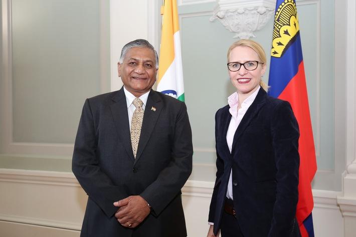 ikr: Aurelia Frick diskutiert Freihandelsabkommen mit indischem Staatsminister