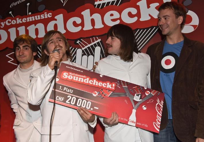 """The Rambling Wheels"" gewinnen den MyCokemusic Soundcheck 2008"