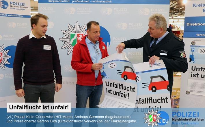 """Neue Kampagne gegen Parkplatzrempler: """"Unfallflucht ist unfair!"""" Foto: Polizei"""