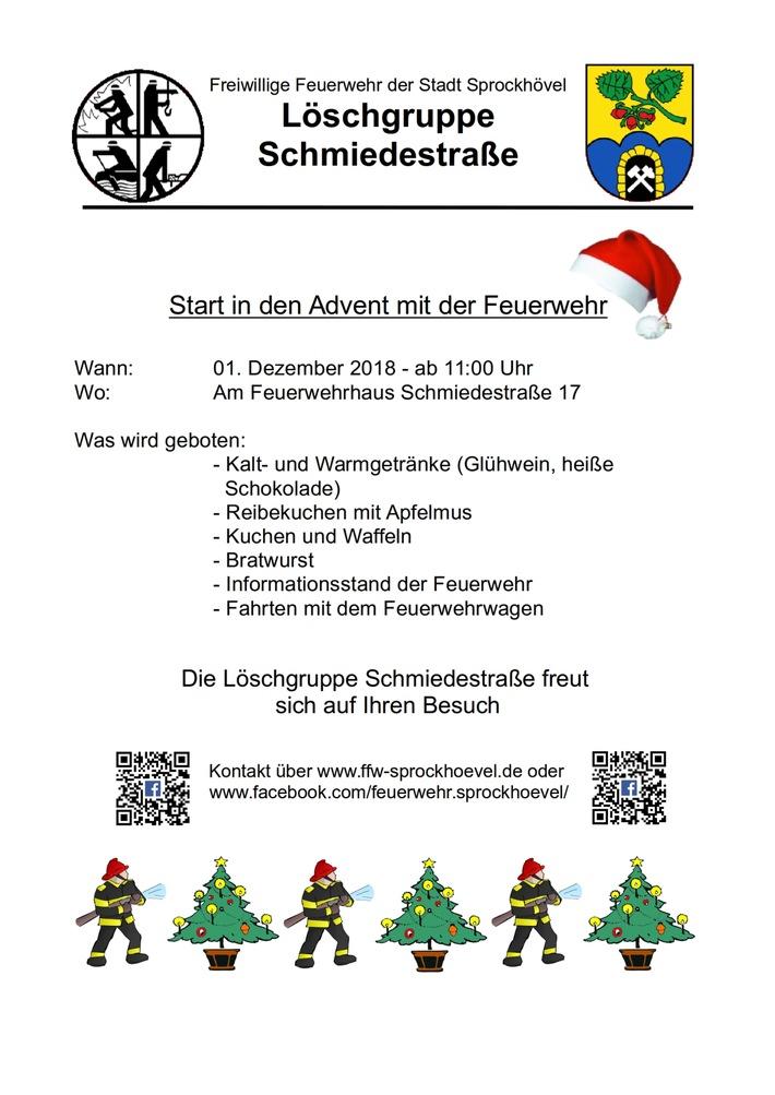 Plakat Start in den Advent
