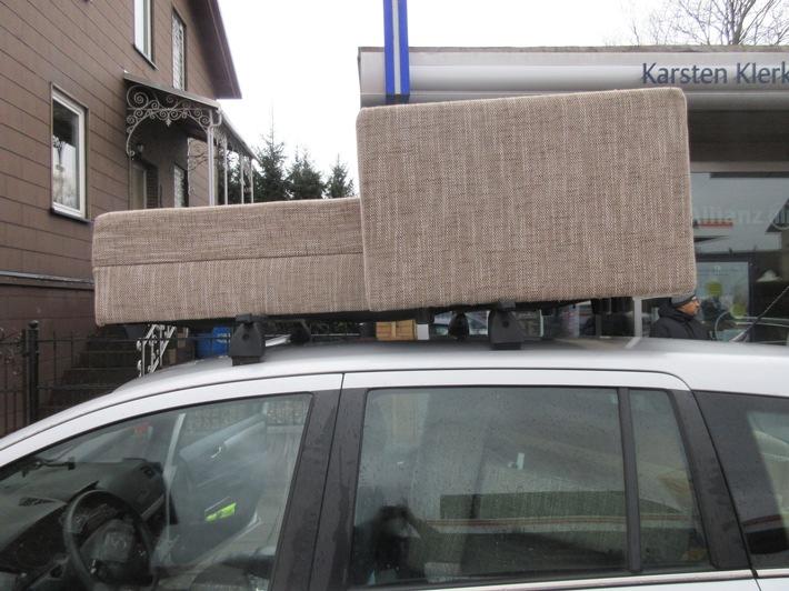gefährlicher Möbeltransport