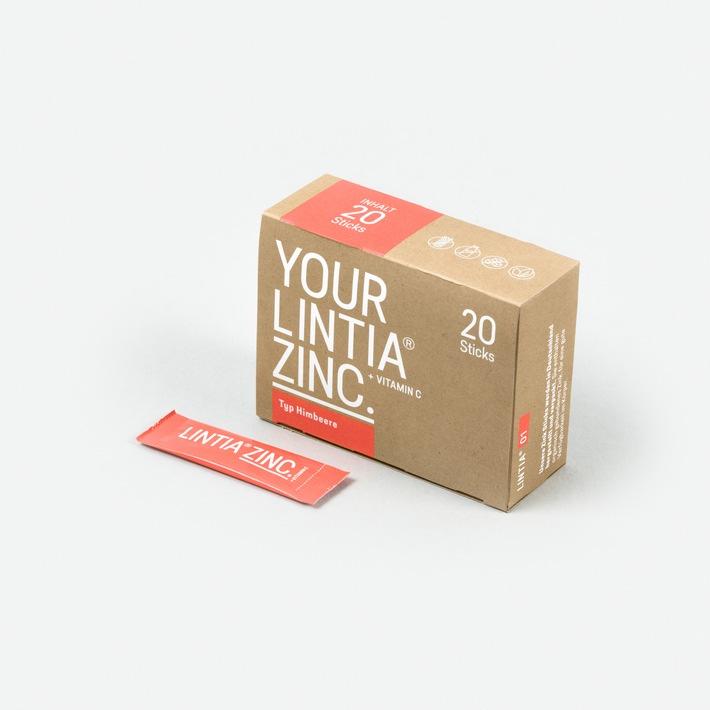 Ein Lintia Zinc + Vitamin C Stick am Tag - so boosten Sie perfekt ihr Immunsystem. Direkt bestellen unter www.lintia.com / Fotorechte und -verwendung:Verwendung der Fotos kostenfrei und nur im Textzusammenhang mit dieser Pressemitteilung und Nennung der ©Bildquelle genehmigt! / Weiterer Text über ots und www.presseportal.de/nr/79747