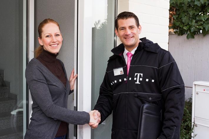 Vertriebsmitarbeiter im Auftrag der Deutschen Telekom