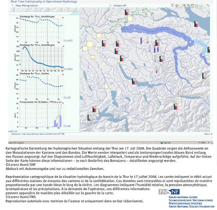FNS: Image du mois juillet 2008: Surveillance des crues