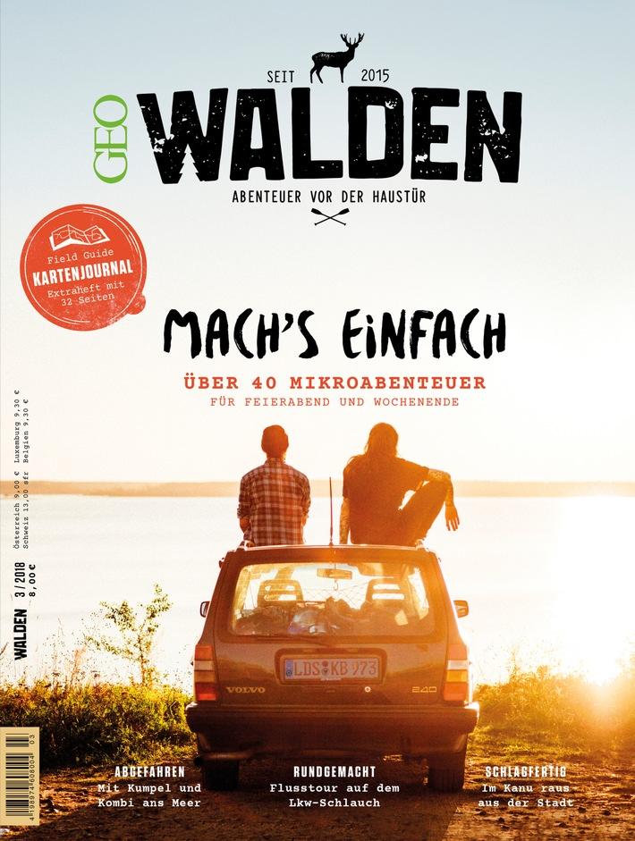 """Cover WALDEN Ausgabe 3/2018. Weiterer Text über ots und www.presseportal.de/nr/7861 / Die Verwendung dieses Bildes ist für redaktionelle Zwecke honorarfrei. Veröffentlichung bitte unter Quellenangabe: """"obs/Gruner+Jahr, GEO/Max Threlfall"""""""
