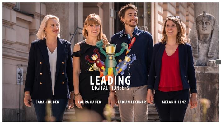 BILD zu OTS - Die Speed U Up Geschäftsleitung (v. l.): Sarah Huber, Laura Bauer, Fabian Lechner und Melanie Lenz