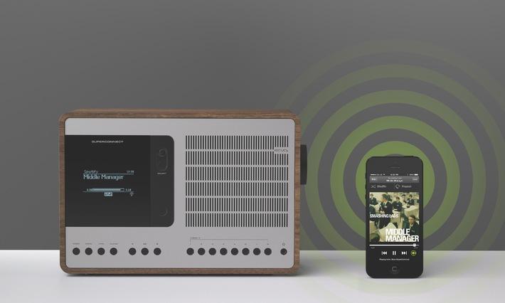 REVO bringt Ihnen Musik ins Haus mit dem neuen SuperConnect Hybrid Radio und Spotify