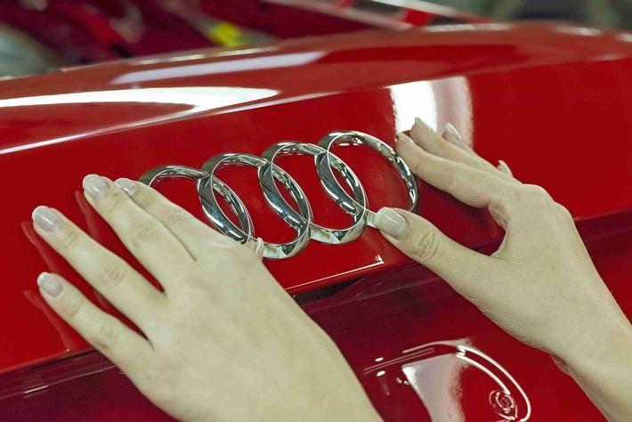 Leistungsstarke Batterie in Audi Elektroauto mit Zell Modulen von LG und Samsung