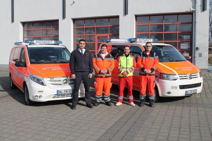 FW-GL: Drittes Notarzteinsatzfahrzeug der Feuerwehr Bergisch Gladbach seit dem 01.03.2018 im Dienst