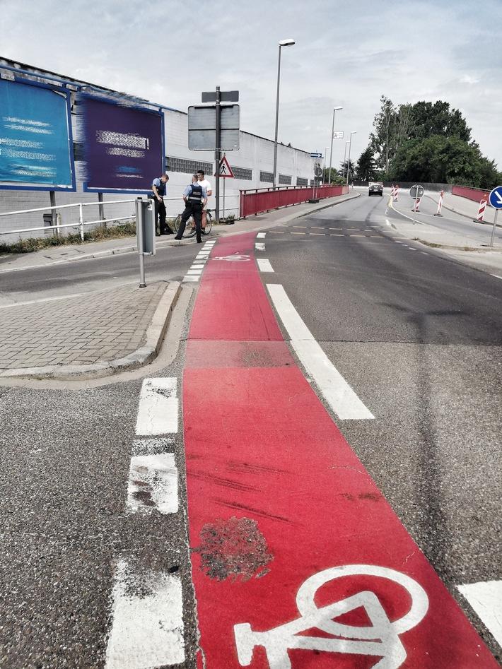Überwachung Radwegsperrung in Baustelle Buschwegbrücke - Fast 50 Prozent Beanstandungsquote