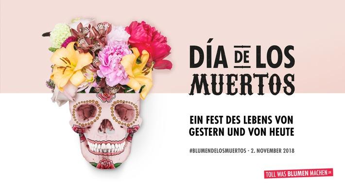 """Día de los Muertos - Ein Fest des Lebens von gestern und von heute. Weiterer Text über ots und www.presseportal.de/nr/81644 / Die Verwendung dieses Bildes ist für redaktionelle Zwecke honorarfrei. Veröffentlichung bitte unter Quellenangabe: """"obs/Blumenbüro/Blumenbüro Holland"""""""