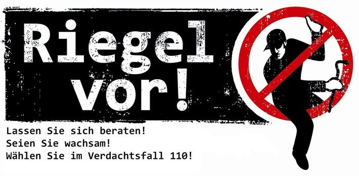 """Logo der landesweiten Kampagne """"Riegel vor"""" zum Schutz vor Wohnungseinbrüchen"""