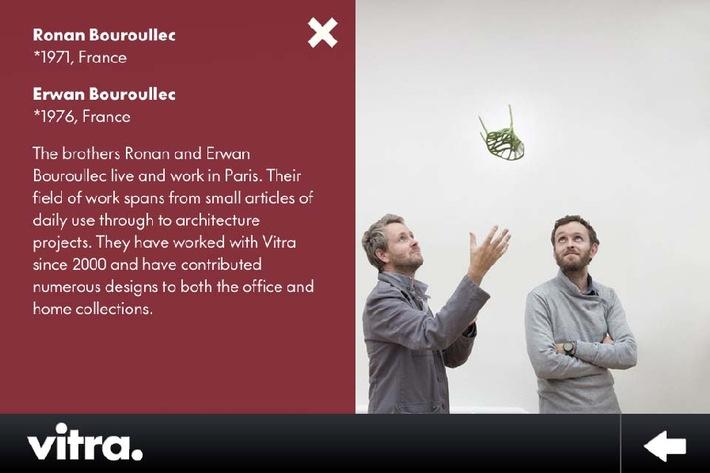 """Ronan & Erwan Bouroullec © Vitra (www.vitra.com) / Texte complémentaire par ots et sur www.presseportal.ch. L'utilisation de cette image est pour des buts redactionnels gratuite. Publication sous indication de source: """"ots.photo/Vitra AG""""."""