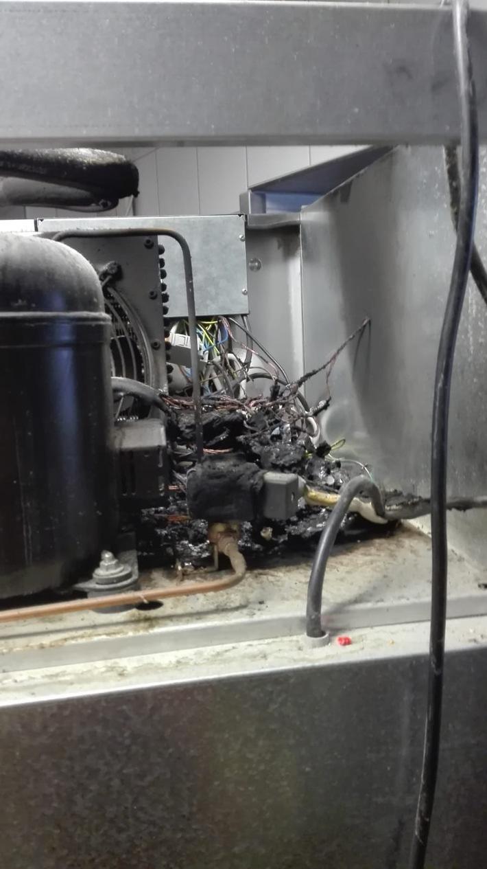 Schwelbrand Kühlaggregat