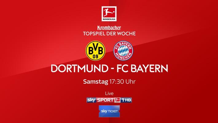 """Borussia Dortmund - FC Bayern München am Samstag live und exklusiv bei Sky Weiterer Text über ots und www.presseportal.de/nr/33221 / Die Verwendung dieses Bildes ist für redaktionelle Zwecke honorarfrei. Veröffentlichung bitte unter Quellenangabe: """"obs/Sky Deutschland"""""""