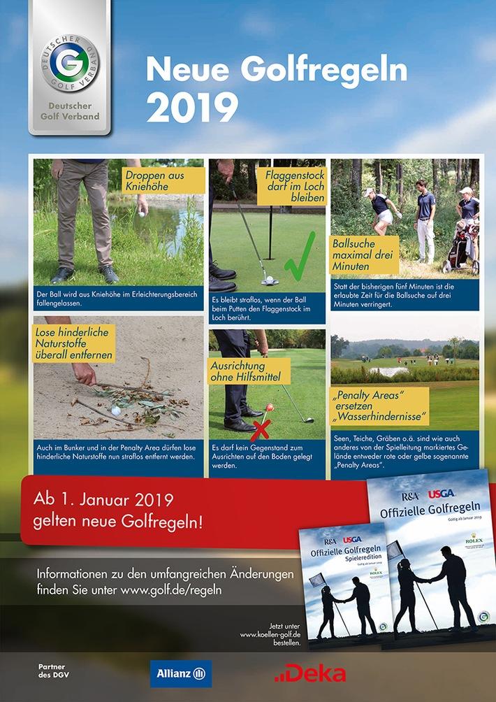 """Neue Golfregeln 2019. Weiterer Text über ots und www.presseportal.de/nr/62266 / Die Verwendung dieses Bildes ist für redaktionelle Zwecke honorarfrei. Veröffentlichung bitte unter Quellenangabe: """"obs/Deutscher Golf Verband (DGV)/DGV"""""""