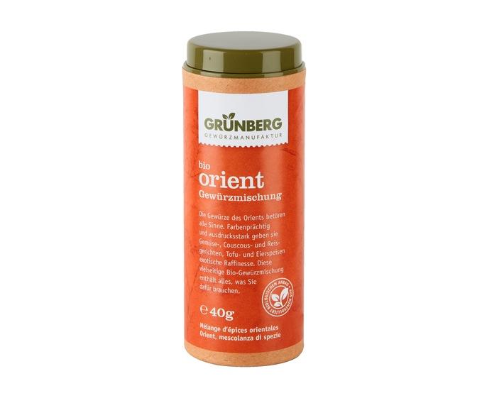 Migros rappelle le mélange d'épices Bio Orient Grünberg